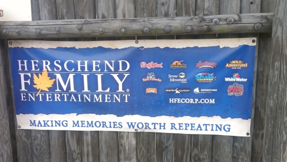 HFE sign that hangs at Wild Adventures in Valdosta, Ga.