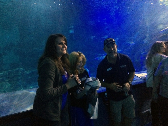 Arion and Destiny with Ric in the shark tank