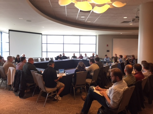 The first meeting of the Kentucky Hellbender Working Group included representatives from 25 agencies, colleges and universities, and businesses.