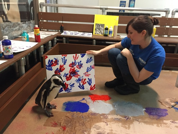 Penguin Painting