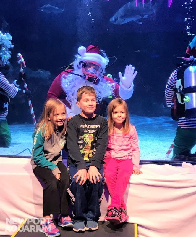 Scuba Santa meet and greet